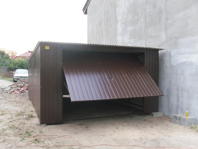 garaże blaszane 4x6m kolor