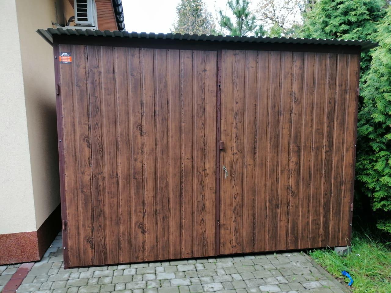 cennik garaż blaszany 3x5m drewnopodobny